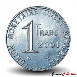 ETATS DE L'AFRIQUE DE L'OUEST - PIECE de 1 FRANC - 2001 - BCEAO Km#8