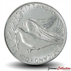 VATICAN - PIECE de 100 Lires - Colombe - 1972 - MCMLXXII Km#122