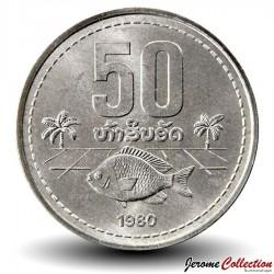 LAOS - PIECE de 50 Att - 1980 - Poisson