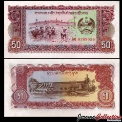 LAOS - Billet de 50 Kip - Plantation de riz / Centrale Electrique - 1979