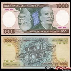 BRESIL - Billet de 1000 Cruzeiros - 1981 / 1986