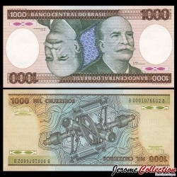 BRESIL - Billet de 1000 Cruzeiros - Barão do Río Branco - 1986