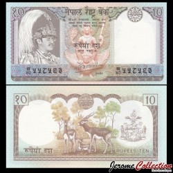 NEPAL - Billet de 10 Roupies - Antilopes - 1985 P31a1