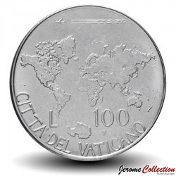 VATICAN - PIECE de 100 Lires - Carte du monde - 1985 Km#188