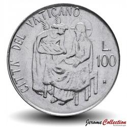 VATICAN - PIECE de 100 Lires - Ange - 1981 Km#155