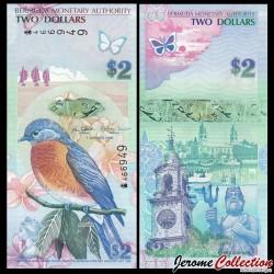 BERMUDES - Billet de 2 DOLLARS - 2009 P57A