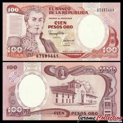 COLOMBIE - Billet de 100 Pesos Oro - 1991 P426e