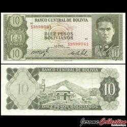BOLIVIE - Billet de 10 Pesos Bolivianos - 1962 P154a(17)
