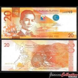 PHILIPPINES - Billet de 20 Piso - Civette - 2014A