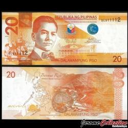 PHILIPPINES - Billet de 20 Piso - Civette - 2015