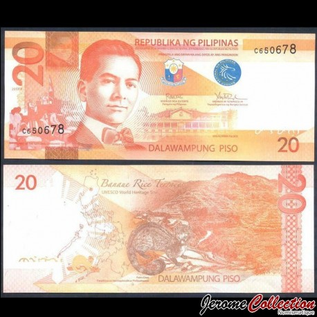 PHILIPPINES - Billet de 20 Piso - Civette - 2017F P206b2