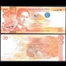 PHILIPPINES - Billet de 20 Piso - Civette - 2017F