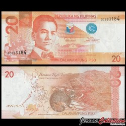 PHILIPPINES - Billet de 20 Piso - Civette - 2016