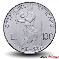 VATICAN - PIECE de 100 Lires - Prudence - 1979 Km#146