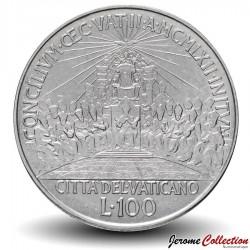 VATICAN - PIECE de 100 Lires - Concile œcuménique - 1962 Km#73