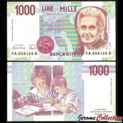 ITALIE - Billet de 1000 Lire - Maria Montessori - 1990 P114a.1