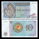 ZAIRE - Billet de 10 Zaïres - Mobutu - 22.06.1974