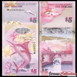 BERMUDES - Billet de 5 DOLLARS - Marlin bleu - 2009 P58A