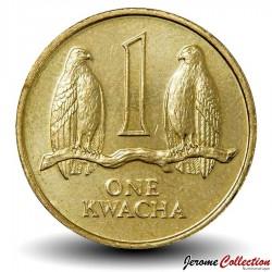ZAMBIE - PIECE de 1 Kwacha - Faucons Taita - 1992 Km#38
