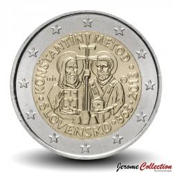 SLOVAQUIE - PIECE de 2 Euro - Apôtres Cyrille et Méthode - 2016