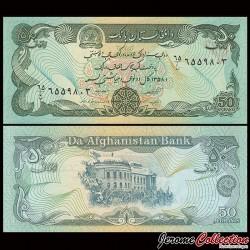 AFGHANISTAN - Billet de 50 Afghanis - Palais de Darulaman - 1979 P57a2