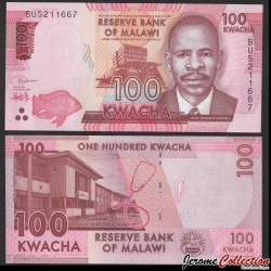 MALAWI - Billet de 100 Kwacha - 2019 P65d