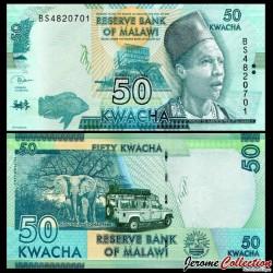 MALAWI - Billet de 50 Kwacha - 2018 P64e