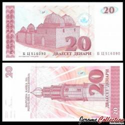 MACEDOINE - Billet de 20 Denari - Hammam - 1993