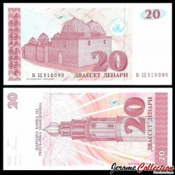 MACEDOINE DU NORD - Billet de 20 Denari - Hammam - 1993 P10a