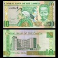 GAMBIE - Billet de 10 Dalasis - Ibis sacré - 2006