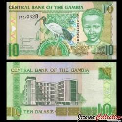 GAMBIE - Billet de 10 Dalasis - Ibis sacré - 2006 P26a