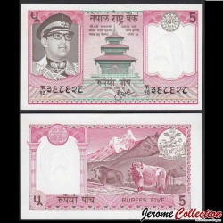 NEPAL - Billet de 5 Roupies - Yaks - 1973 P23a