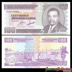 BURUNDI - Billet de 100 Francs - 2011 P44b