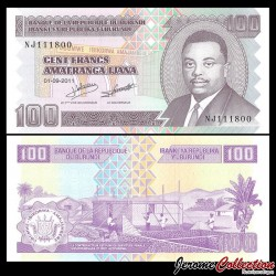 BURUNDI - Billet de 100 Francs - 2011