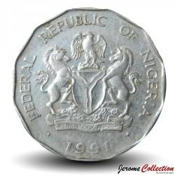 NIGERIA - PIECE de 50 Kobo - Épi de Mais - 1991