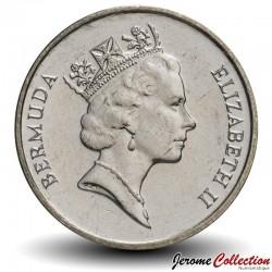 BERMUDES - PIECE de 5 Cents - Poisson ange - 1997