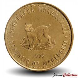 MACEDOINE - PIECE de 5 Denari - Lynx - Fao - 1995