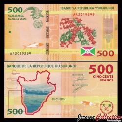 BURUNDI - Billet de 500 Francs - 2015 P50a