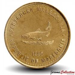 MACEDOINE - PIECE de 2 Denari - Truite - Fao - 1995