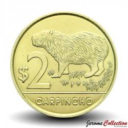 URUGUAY - PIECE de 2 Pesos - Carpincho (Rongeur) - 2011 Km#136