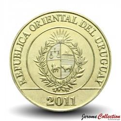 URUGUAY - PIECE de 2 Pesos - Carpincho (Rongeur) - 2011