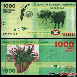 BURUNDI - Billet de 1000 Francs - 2015