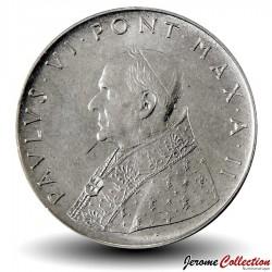 VATICAN - PIECE de 100 Lires - Foi avec la Croix - 1965