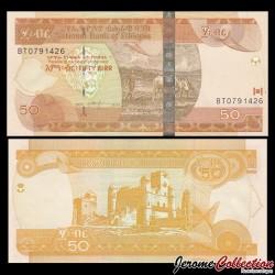 ETHIOPIE - Billet de 50 Birr - 2015