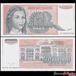 YOUGOSLAVIE - Billet de 50000000 Dinara - 1993 P123a