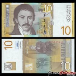 YOUGOSLAVIE - Billet de 10 Dinara - Vuk Stefanovic Karadzic - 2000 P153b