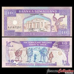 SOMALILAND - Billet de 10 Shillings - 1994