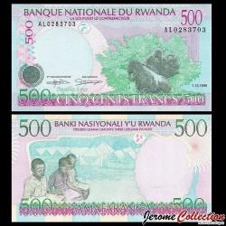 RWANDA - Billet de 500 Francs - Gorille - 1.12.1998 P26b