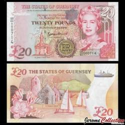 GUERNESEY - Billet de 20 Pounds - Le jubilé de diamant d'Elizabeth II - 2012