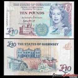 GUERNESEY - Billet de 10 Pounds - 2015 P57d